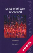 Cover of Social Work Law in Scotland (eBook)