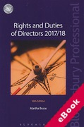Cover of Rights and Duties of Directors 2017/18 (eBook)