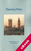 Cover of Planning Policy (eBook)