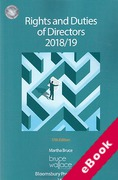 Cover of Rights and Duties of Directors 2018/19 (eBook)