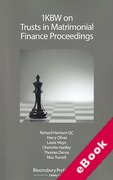 Cover of 1KBW on Trusts in Matrimonial Finance Proceedings (eBook)