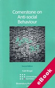 Cover of Cornerstone on Anti-Social Behaviour (eBook)