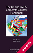 Cover of The UK and EMEA Corporate Counsel Handbook (eBook)