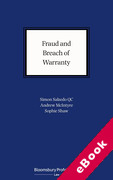 Cover of Fraud and Breach of Warranty: Buyers' Claims and Sellers' Defences (eBook)