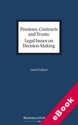 Cover of Pensions, Contracts and Trusts: Legal Issues on Decision Making (eBook)