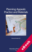 Cover of Planning Appeals: Practice and Materials (eBook)