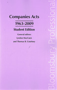 Cover of Companies Acts 1963-2009: Student Edition