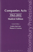 Cover of Companies Acts 1963-2012: Student Edition