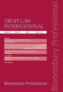 Cover of Trust Law International: Subscription
