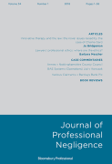 Cover of Journal of Professional Negligence