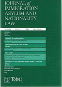 Cover of Journal of Immigration Asylum and Nationality Law