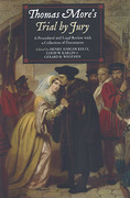 Cover of Thomas More's Trial by Jury: A Procedural and Legal Review with a Collection of Documents