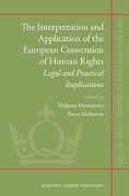 Cover of The Interpretation and Application of the European Convention of Human Rights: Legal and Practical Implications