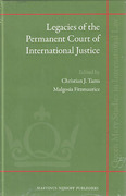 Cover of Legacies of the Permanent Court of International Justice