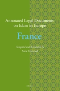 Cover of Annotated Legal Documents on Islam in Europe: France