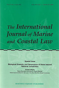 Cover of The International Journal of Marine and Coastal Law: Print + Online