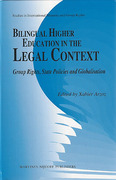 Cover of Bilingual Higher Education in the Legal Context: Group Rights, State Policies and Globalisation