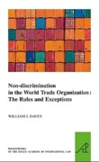 Cover of Non-discrimination in the World Trade Organization