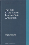 Cover of The Role of the State in Investor-State Arbitration