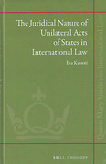 Cover of The Juridical Nature of Unilateral Acts of States in International Law