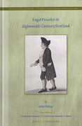 Cover of Legal Practice in Eighteenth-Century Scotland