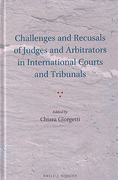 Cover of Challenges and Recusals of Judges and Arbitrators in International Courts and Tribunals
