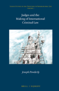 Cover of Judges and the Making of International Criminal Law