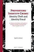 Cover of Preventing Identity Crime: Identity Theft and Identity Fraud