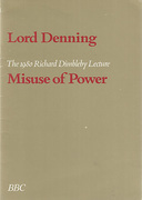 Cover of Misuse of Power: The 1980 Richard Dimbleby Lecture