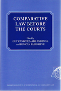 Cover of Comparative Law Before the Courts