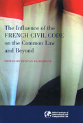 Cover of The Influence of the French Civil Code on the Common Law and Beyond