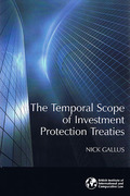 Cover of The Temporal Scope of Investment Protection Treaties