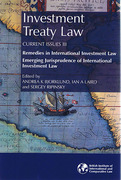 Cover of Investment Treaty Law: Current Issues III