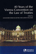 Cover of 40 Years of the Vienna Convention on the Law of Treaties