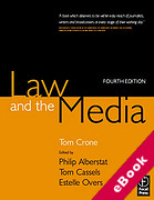 Cover of Law and the Media (eBook)