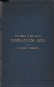 Cover of The Conveyancing Acts, the Vendor and Purchase Act, and the Trustee Acts 4th ed