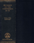 Cover of Buckley on the Companies Acts 12th ed