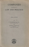 Cover of Companies: Law and Practice 3rd ed