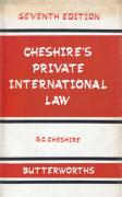 Cover of Cheshire's Private International Law 7th ed