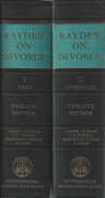 Cover of Rayden's Law and Practice in Divorce and Family Matters in All Courts 12th ed