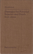 Cover of Damages for Personal Injury and Death
