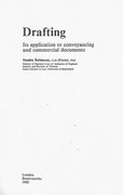 Cover of Drafting: Its Application to Conveyancing & Commercial Documents