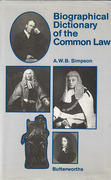 Cover of A Biographical Dictionary of the Common Law