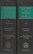 Cover of Rayden and Jackson's Law and Practice in Divorce and Family Matters 15th ed