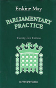 Cover of Erskine May's Parliamentary Practice 21st ed