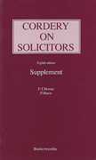 Cover of Cordery on Solicitors 8th ed: Supplement