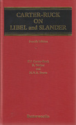 Cover of Carter-Ruck on Libel and Slander 4th ed