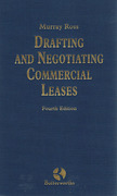 Cover of Ross: Drafting  & Negotiating Commercial Leases 4th ed