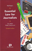 Cover of McNae's Essential Law for Journalists