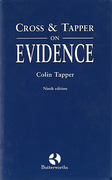 Cover of Cross & Tapper on Evidence